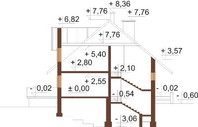 Projekt domu DM-6040 N - przekrój