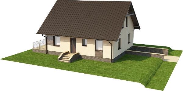 Projekt domu DM-6164 N - model