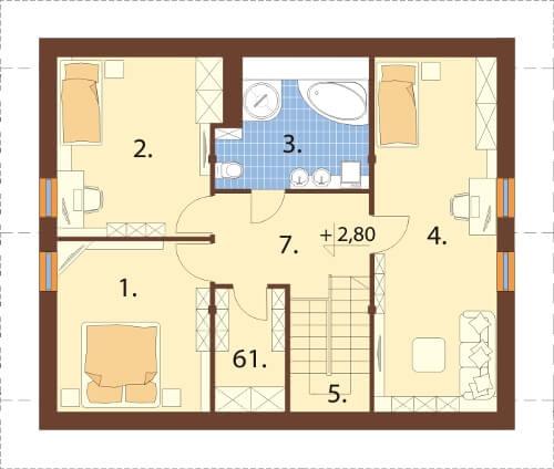 Projekt domu DM-6164 N - rzut