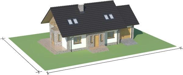Projekt domu DM-6168 N - model