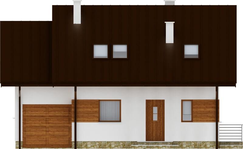 Projekt domu DM-6183 N - elewacja