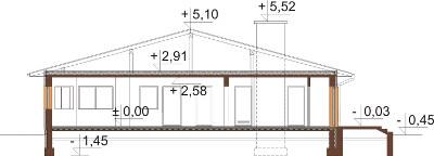 Projekt domu DM-6202 N - przekrój