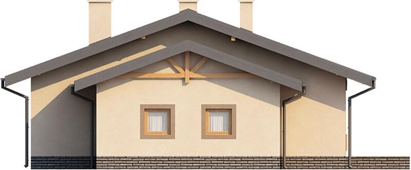 Projekt domu DM-6210 N - elewacja