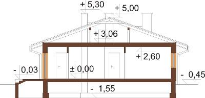 Projekt domu DM-6210 N - przekrój
