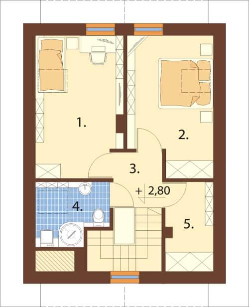 Projekt domu DM-6268 N - rzut