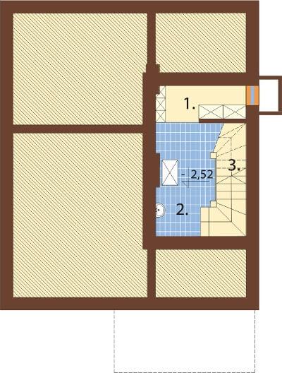 Projekt domu DM-6280 N - rzut