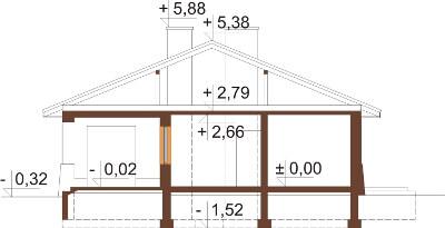 Projekt domu DM-6300 N - przekrój