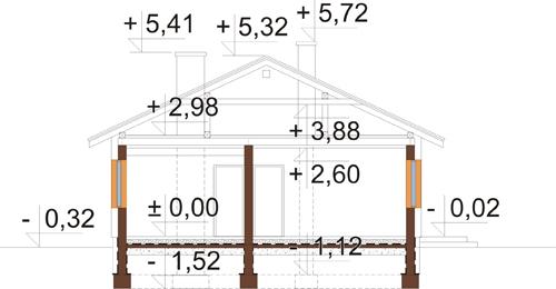 Projekt domu DM-6302 N - przekrój