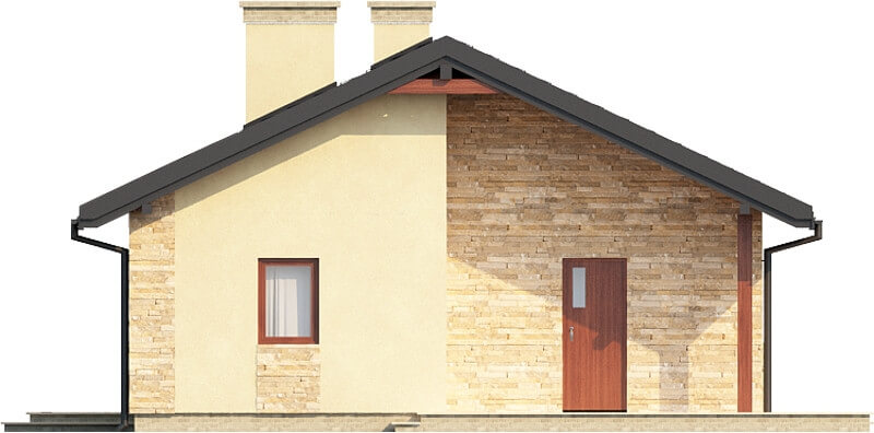 Projekt domu DM-6306 N - elewacja