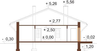 Projekt domu DM-6101 N - przekrój