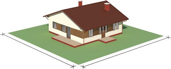Projekt domu DM-6101 N - model