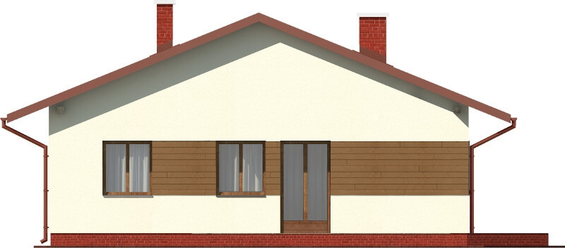 Projekt domu DM-6101 N - elewacja