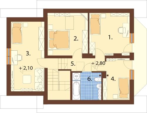 Projekt domu DM-6199 N - rzut