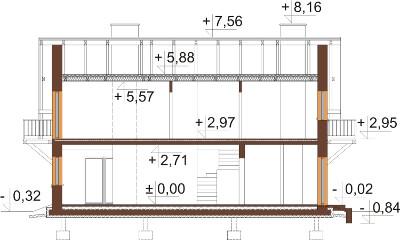 Projekt domu DM-6602 - przekrój