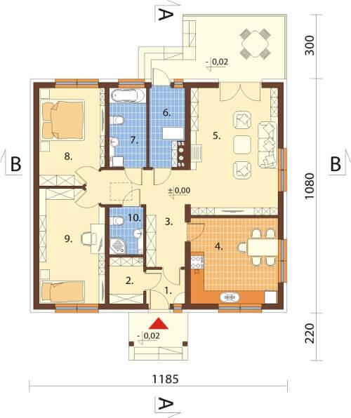 Projekt domu DM-6603 - rzut