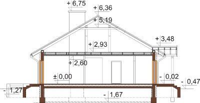 Projekt domu DM-6603 - przekrój