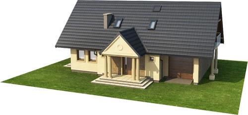 Projekt domu DM-6216 - model