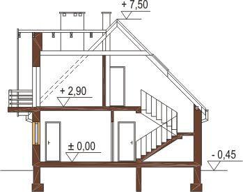 Projekt domu DM-6216 - przekrój
