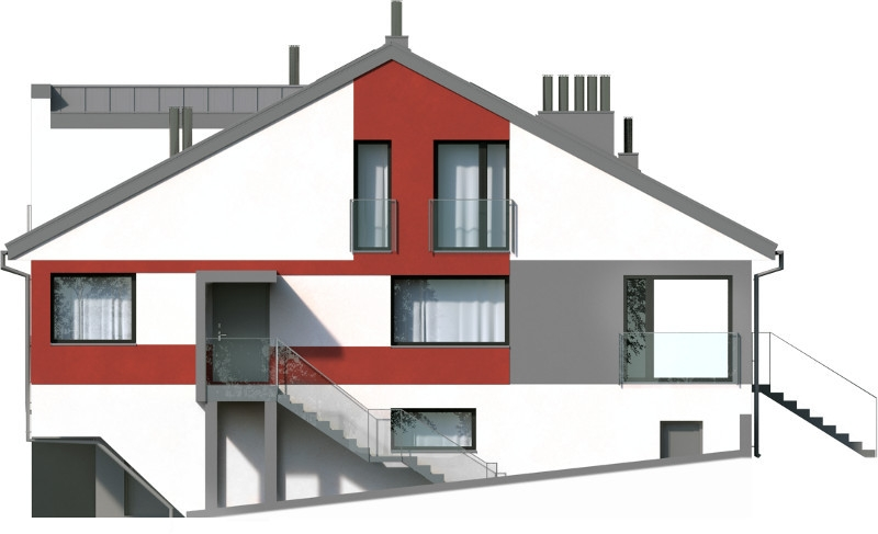 Projekt domu L-6504 - elewacja
