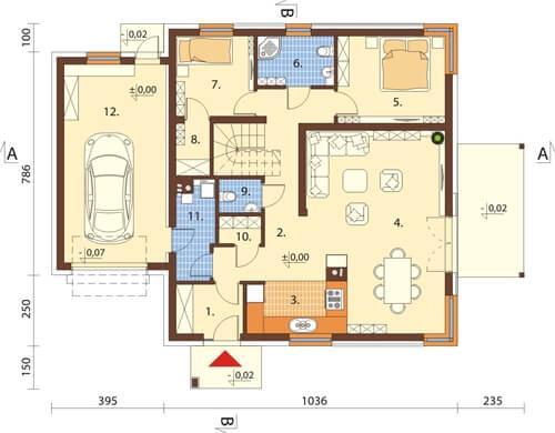 Projekt domu L-6564 - rzut