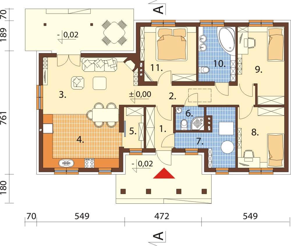 Projekt domu L-6583 - rzut