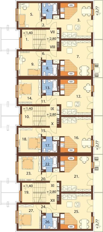 Projekt domu L-6590 - rzut