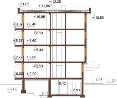 Projekt domu L-6590 - przekrój