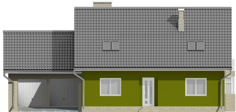 Projekt domu L-6577 - elewacja