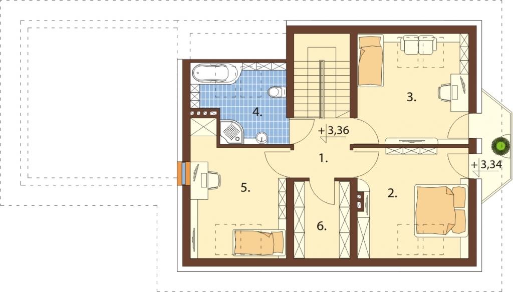 Projekt domu L-6577 - rzut