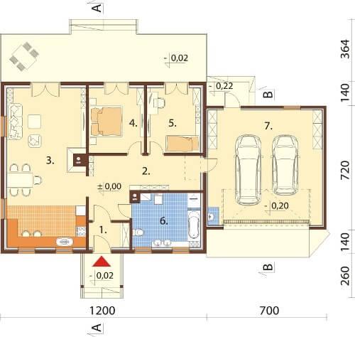 Projekt domu DM-6535 - rzut