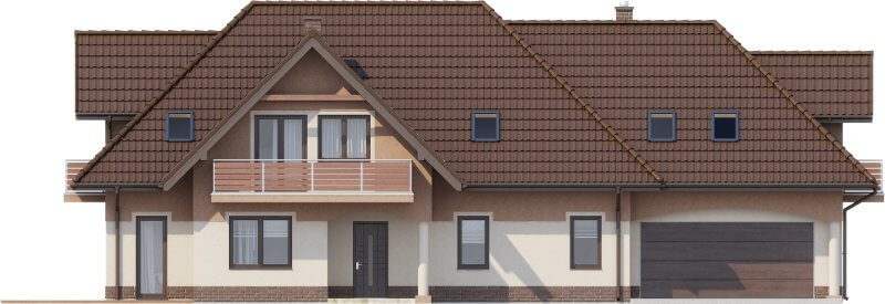 Projekt domu DM-6614 - elewacja