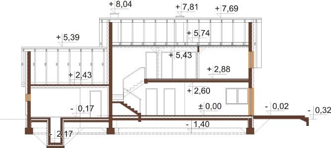 Projekt domu DM-6612 - przekrój
