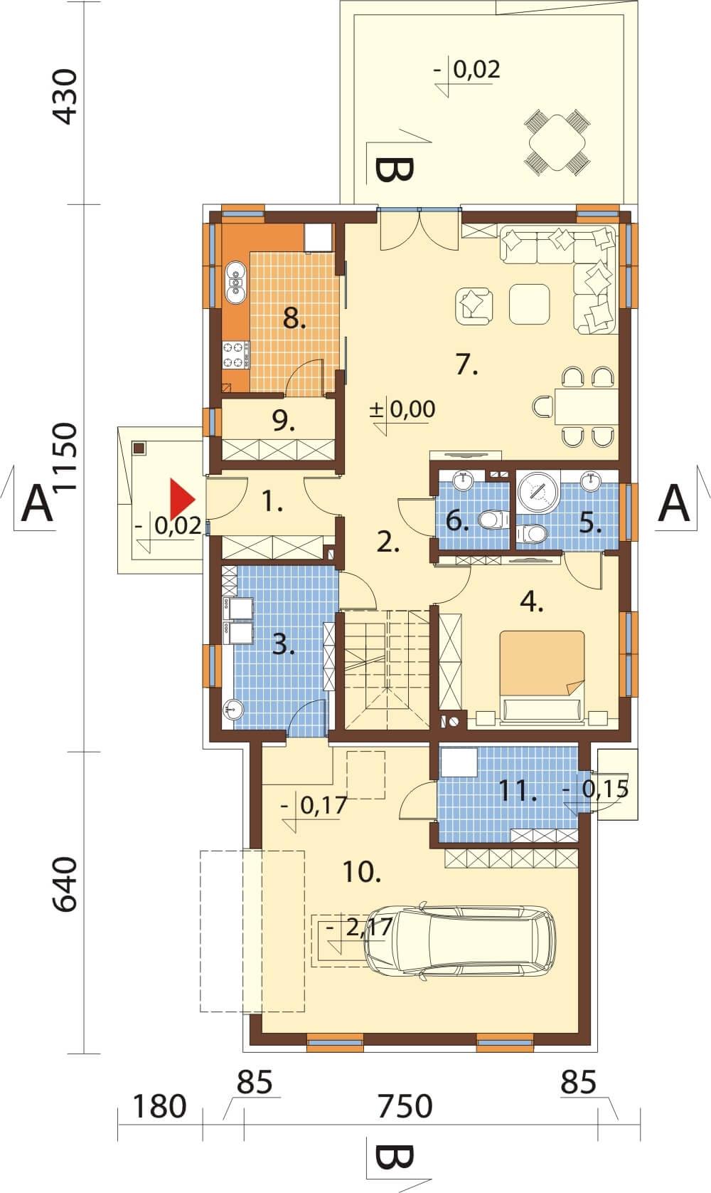 Projekt domu L-6612 - rzut