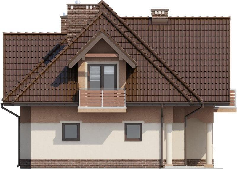 Projekt domu L-6614 - elewacja