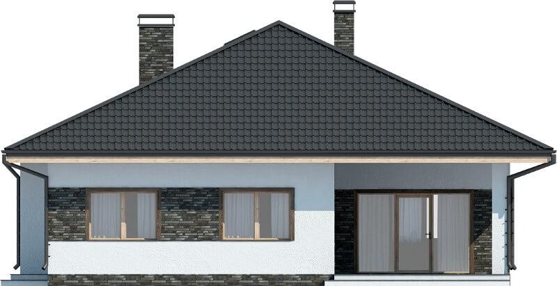 Projekt domu DM-6604 - elewacja
