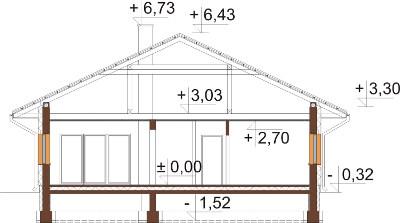Projekt domu DM-6604 - przekrój