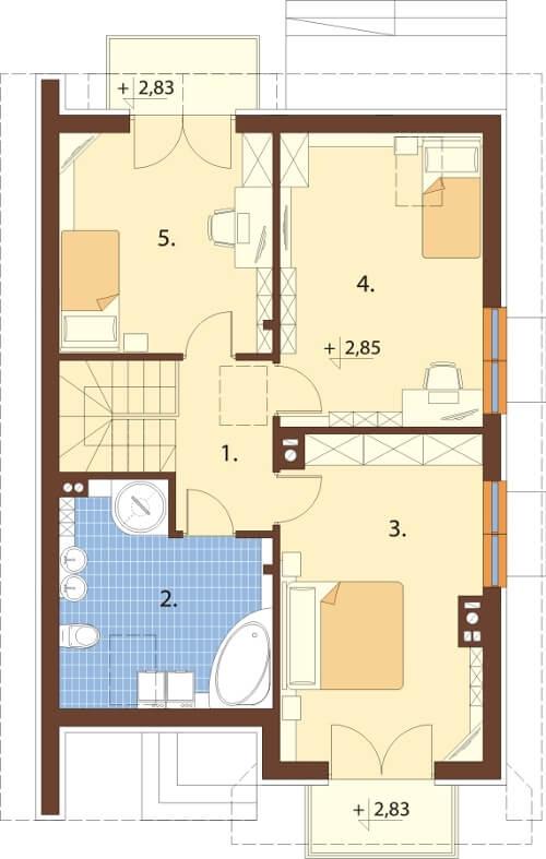 Projekt domu DM-6605 - rzut