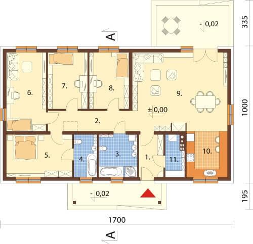 Projekt domu DM-6591 - rzut