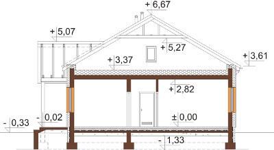 Projekt domu DM-6591 - przekrój
