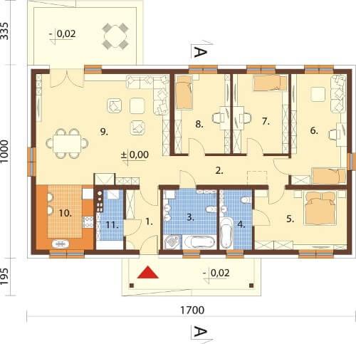 Projekt domu L-6591 - rzut