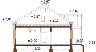 Projekt domu L-6591 - przekrój
