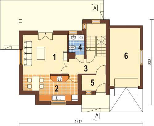 Projekt domu DM-6218 - rzut