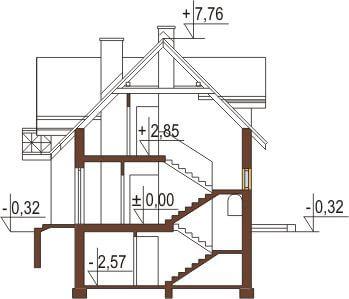 Projekt domu DM-6218 - przekrój