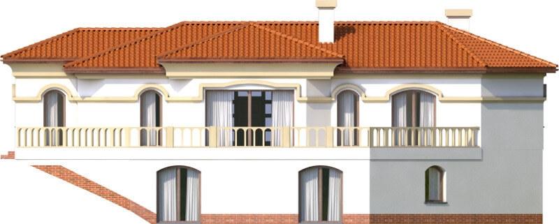 Projekt domu L-6595 - elewacja