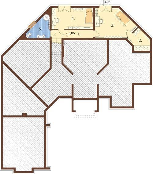 Projekt domu L-6595 - rzut