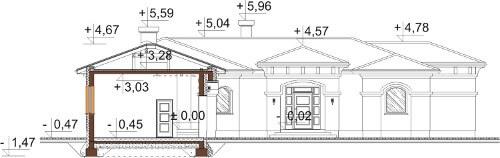 Projekt domu L-6595 - przekrój