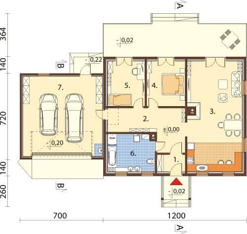 Projekt domu L-6535 - rzut