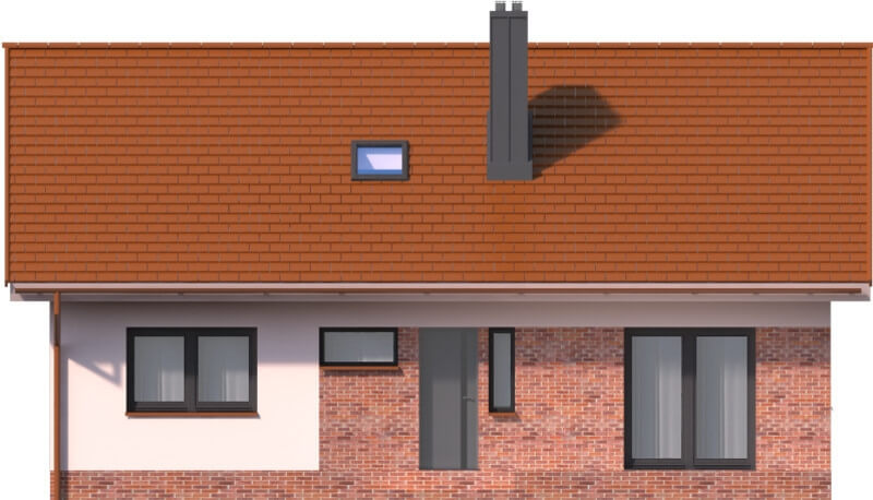 Projekt domu L-6603 - elewacja