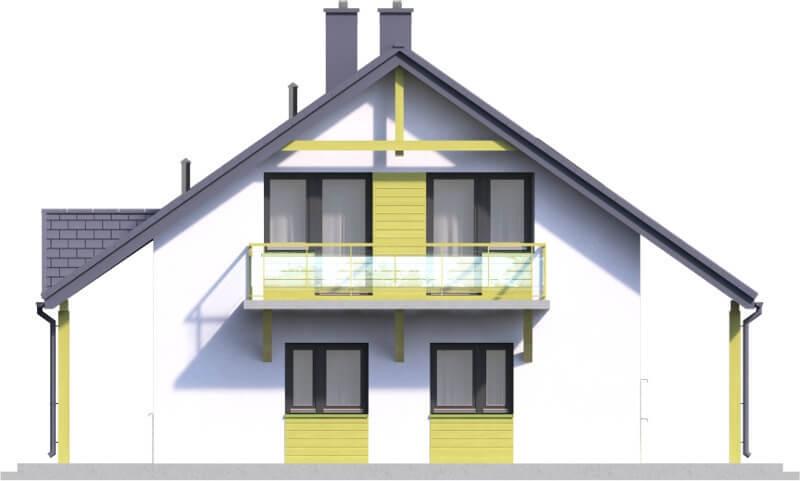 Projekt domu L-6602 - elewacja