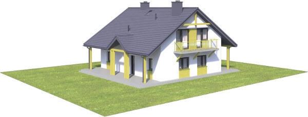 Projekt domu L-6602 - model